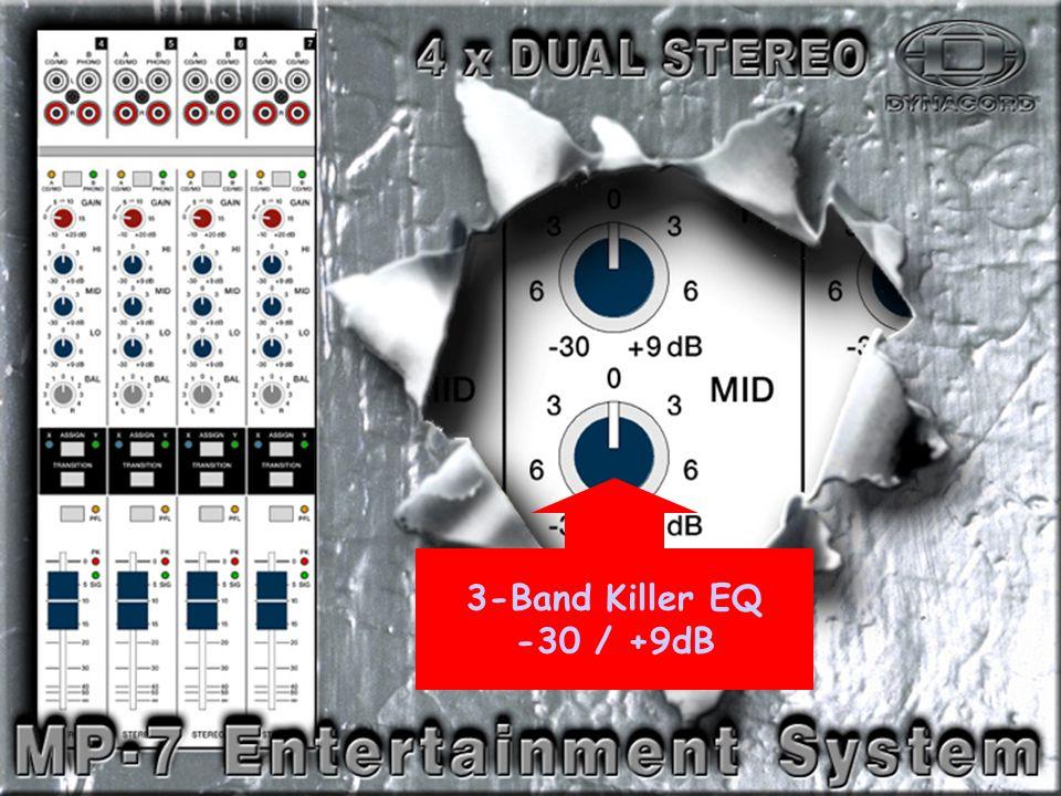 Dual Stereo-3 3-Band Killer EQ -30 / +9dB