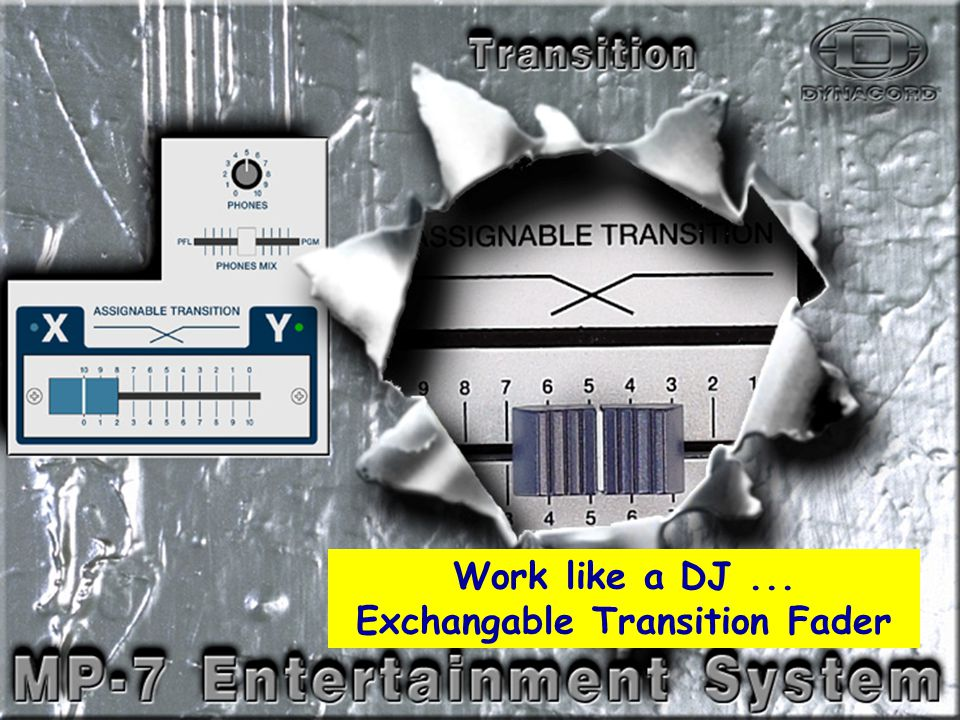Transition Work like a DJ... Exchangable Transition Fader