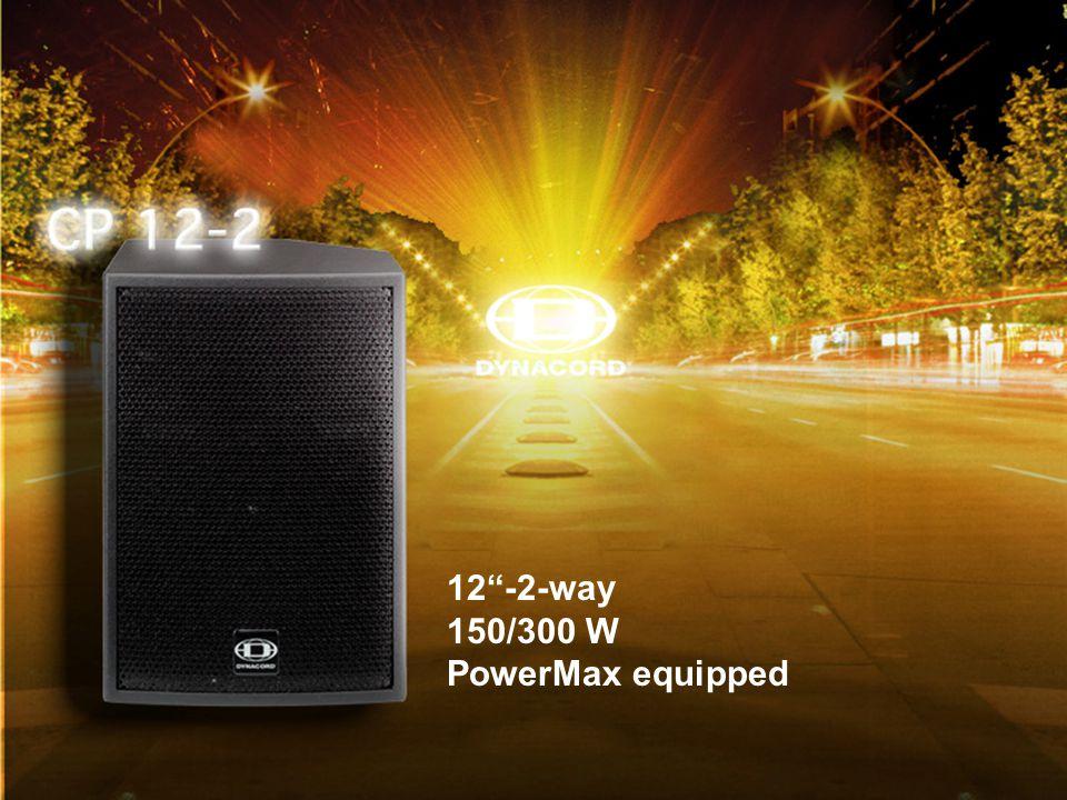 CP-04 12 -2-way 150/300 W PowerMax equipped