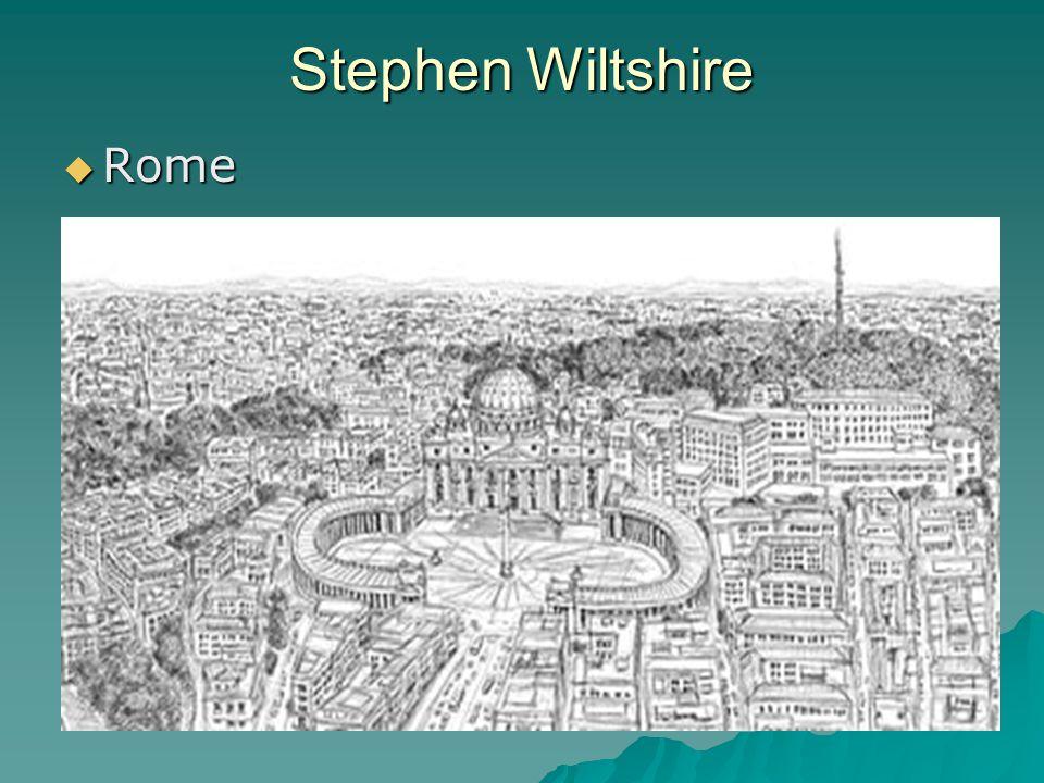 Stephen Wiltshire  Rome