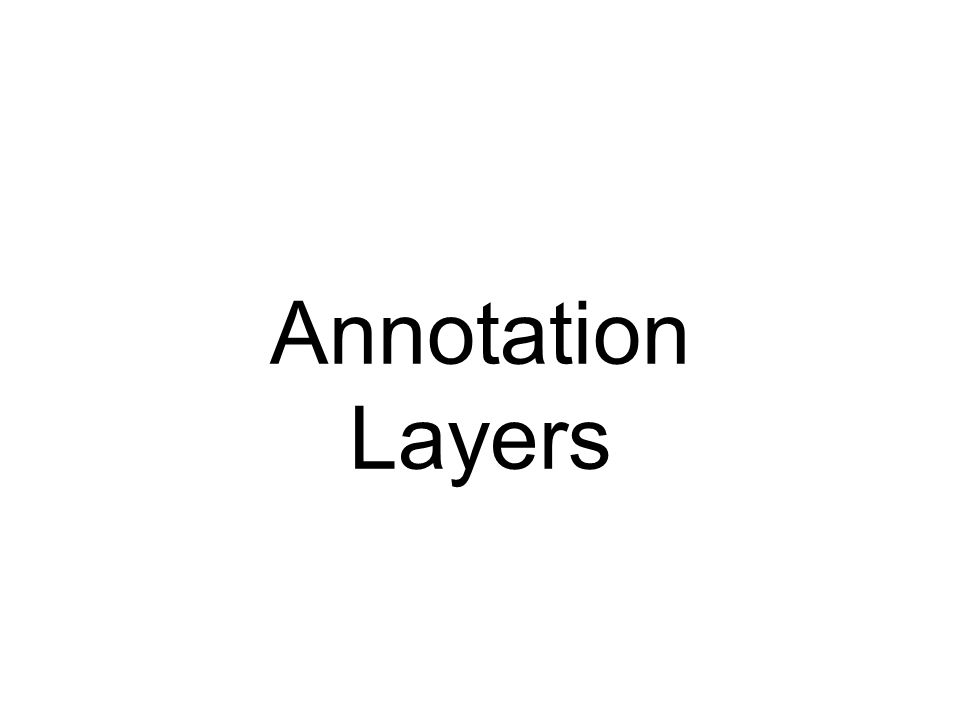 Annotation Layers