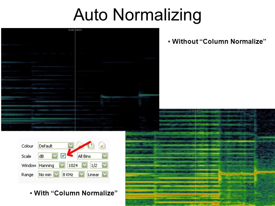 Auto Normalizing Without Column Normalize With Column Normalize