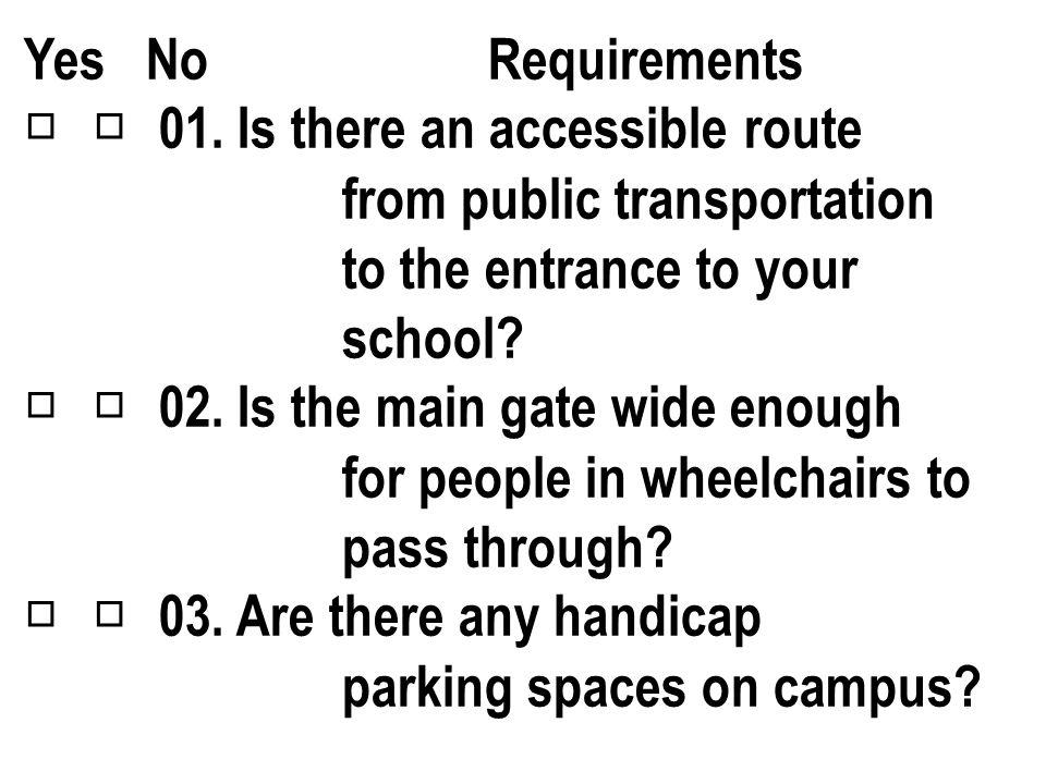 Is Your School Handicap Accessible ?