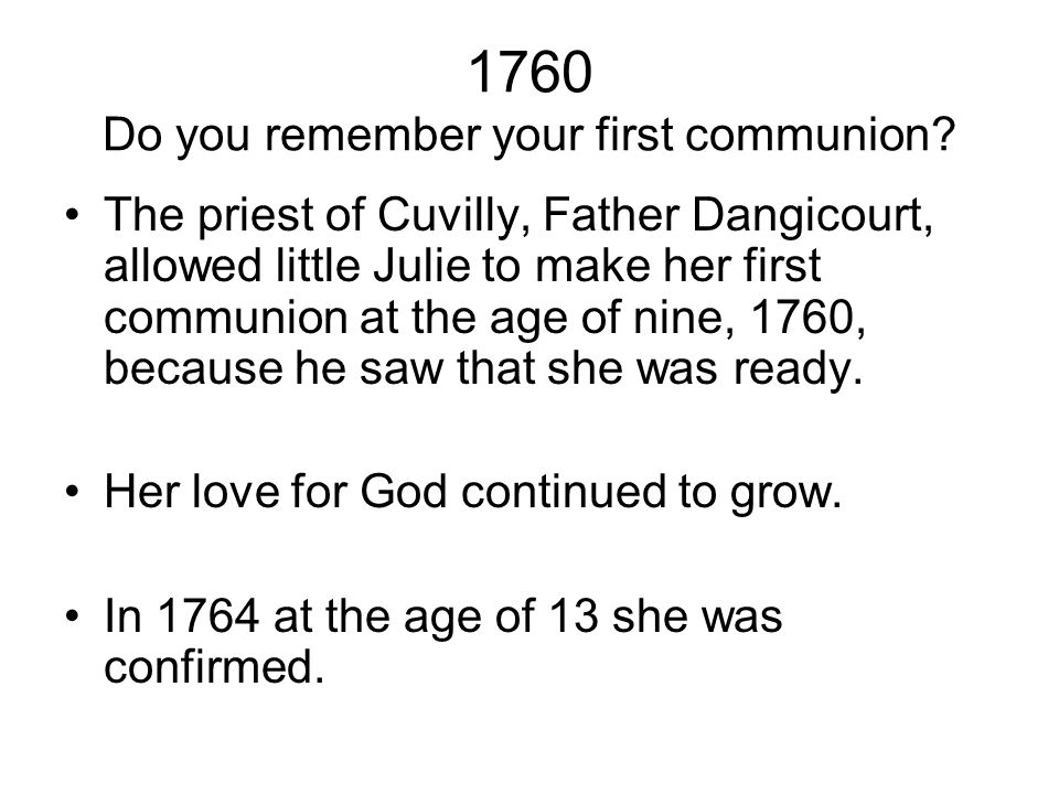 1760 Do you remember your first communion.