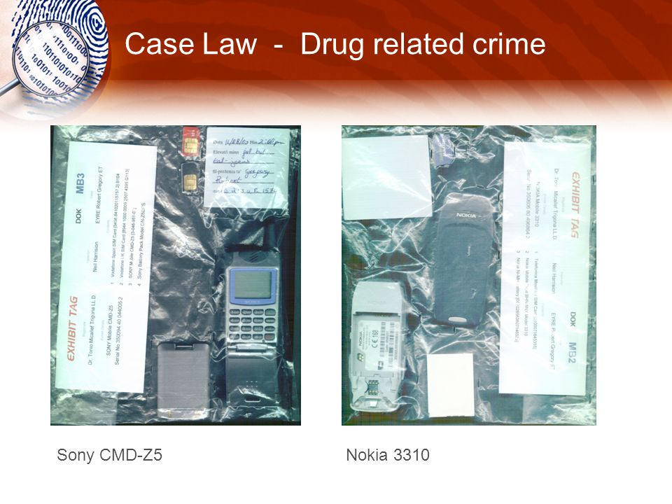 Case Law - Drug related crime Sony CMD-Z5 Nokia 3310