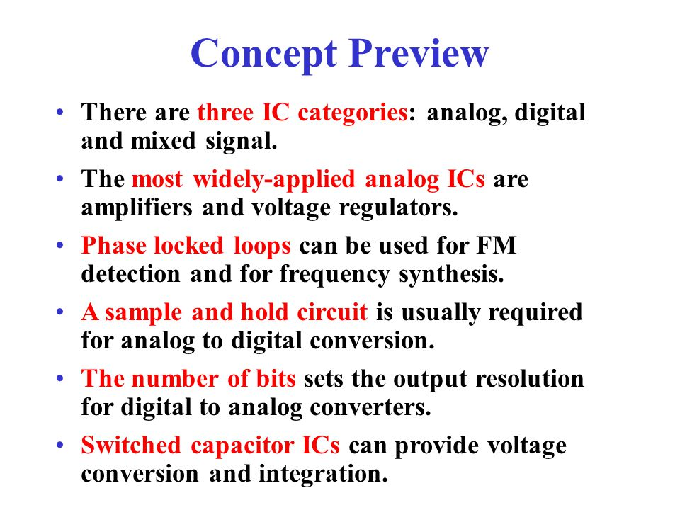 Concept Review The 555 timer IC has two comparators, a discharge transistor and a digital output.