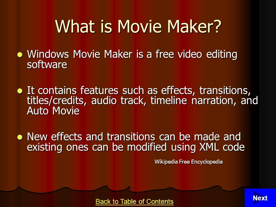 3 What is Movie Maker.