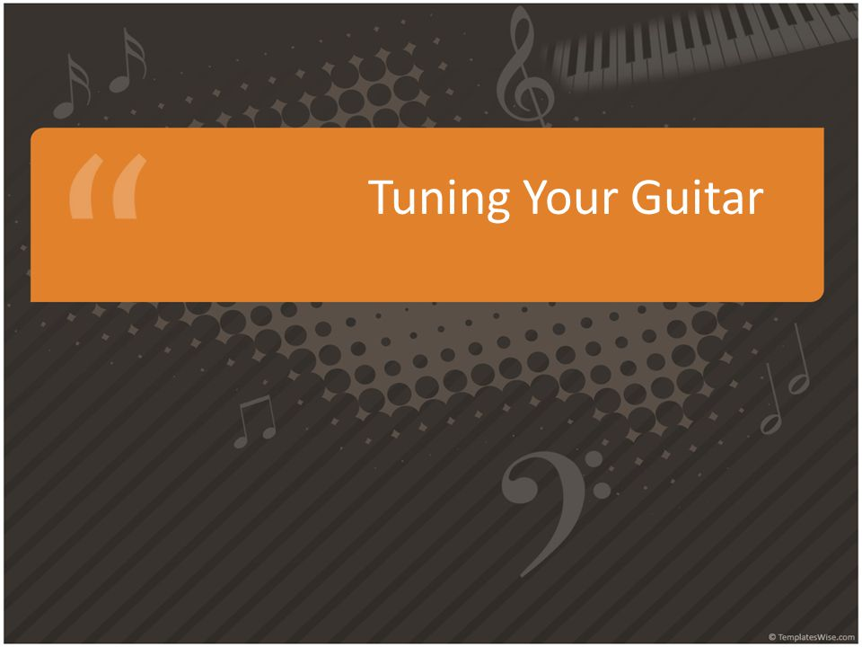 Tuning your guitar is important - no matter how good a player you are, if your guitar is out of tune you'll sound bad.
