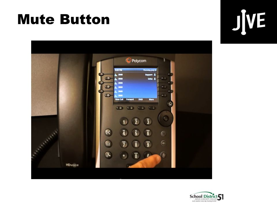 Mute Button Polycom VVX 400