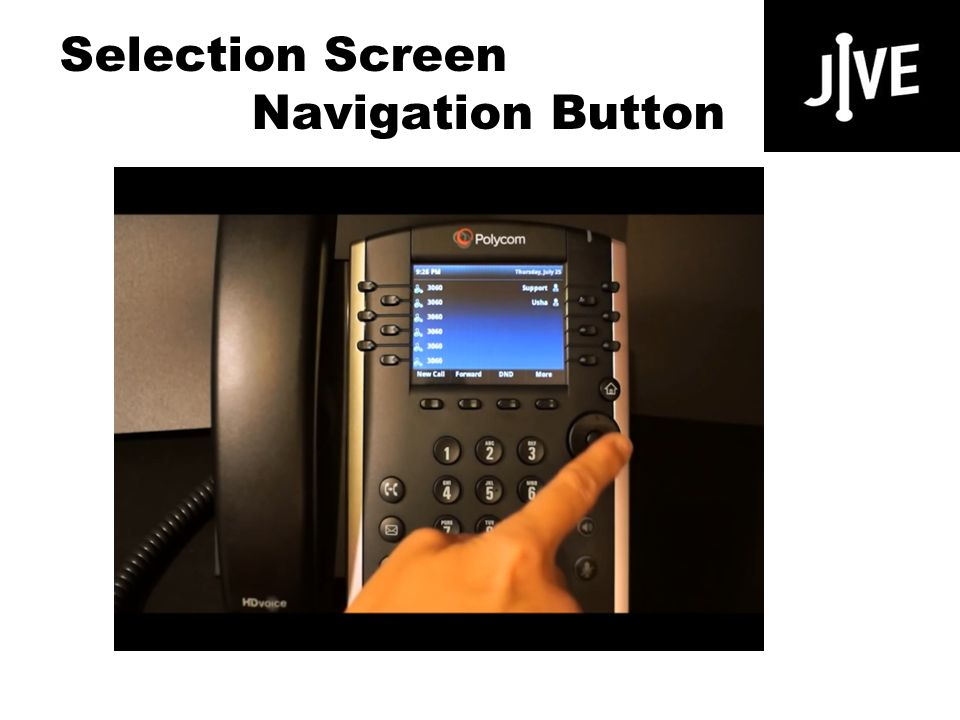 Selection Screen Navigation Button Polycom VVX 400