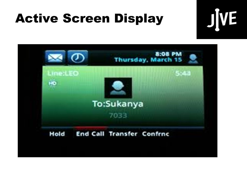 Active Screen Display Polycom VVX 500