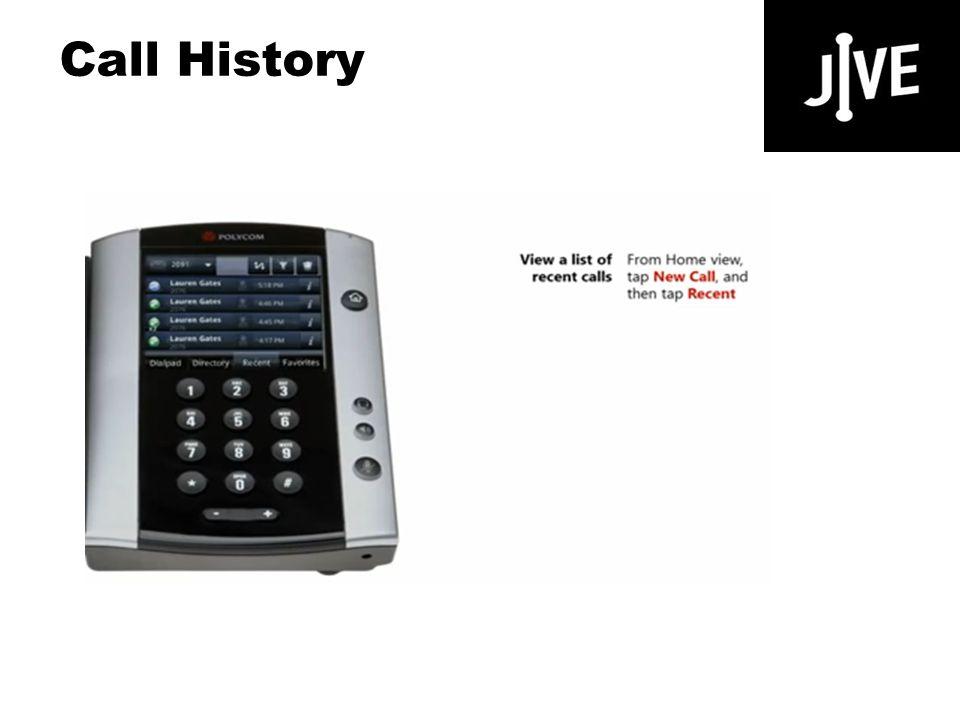 Call History Polycom VVX 500