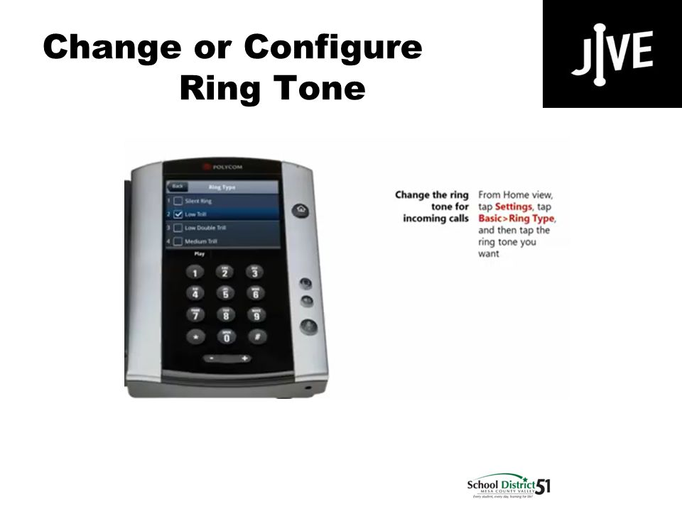 Change or Configure Ring Tone Polycom VVX 500