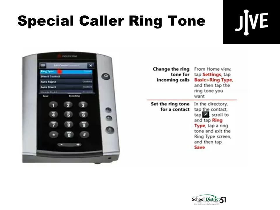 Special Caller Ring Tone Polycom VVX 500