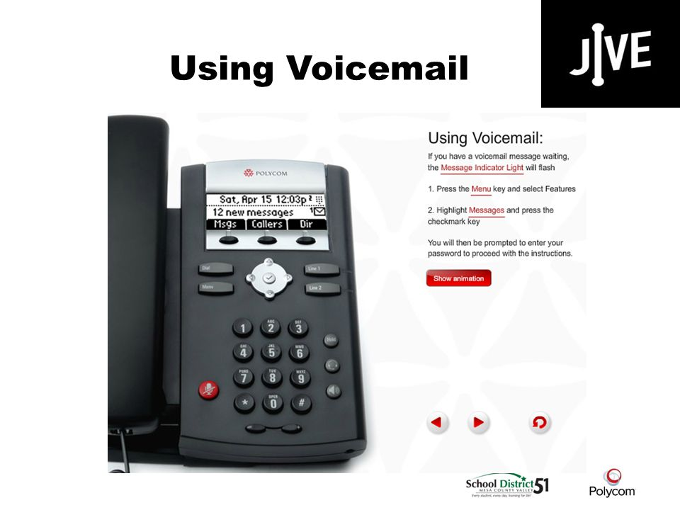 Using Voicemail