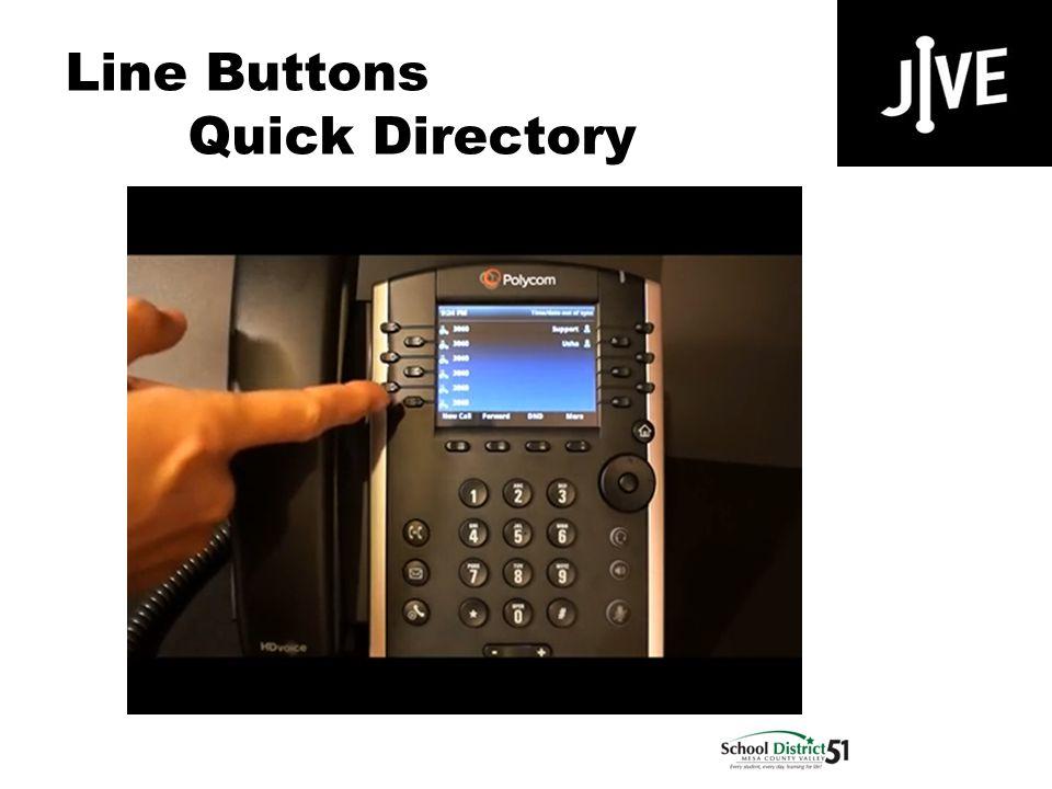 Line Buttons Quick Directory Polycom VVX 400