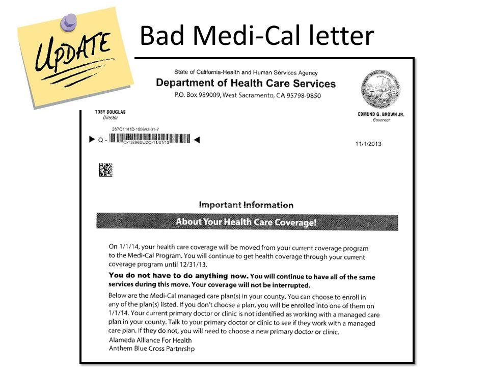 Bad Medi-Cal letter