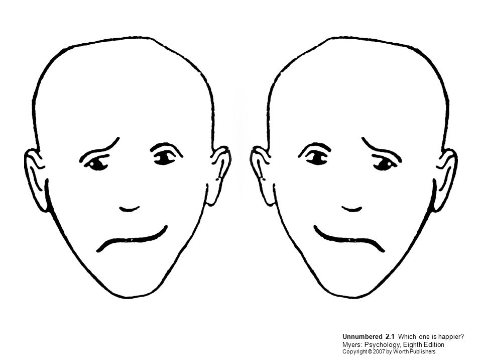 Unnumbered 2.1 Which one is happier? Myers: Psychology, Eighth Edition Copyright © 2007 by Worth Publishers