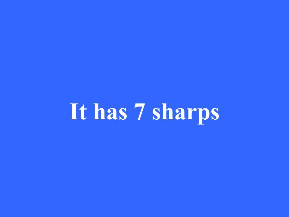 It has 7 sharps