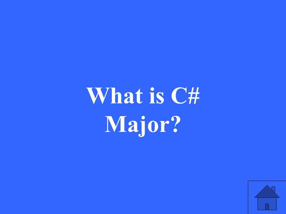 What is C# Major?