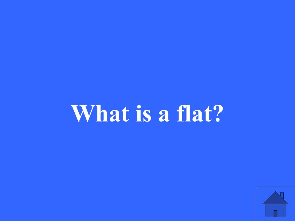 What is a flat?