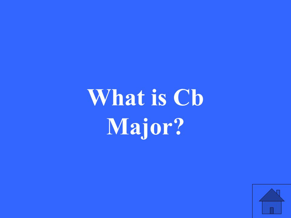 What is Cb Major?