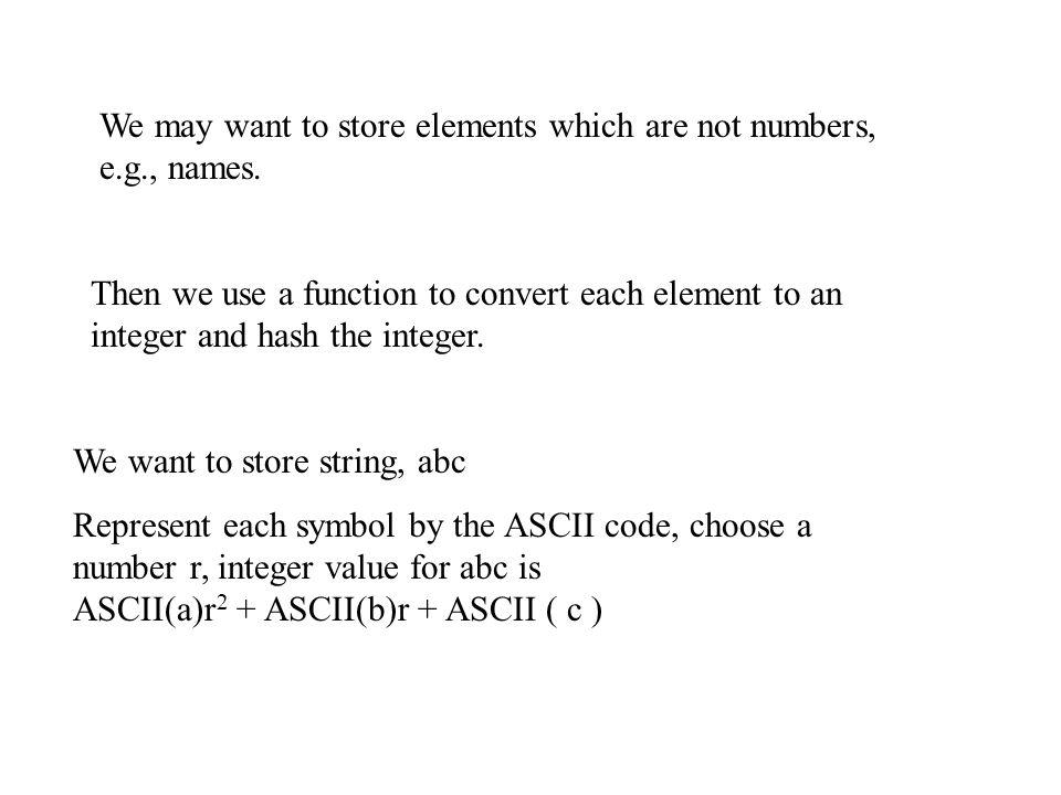 Implementation Hashtables are arrays.