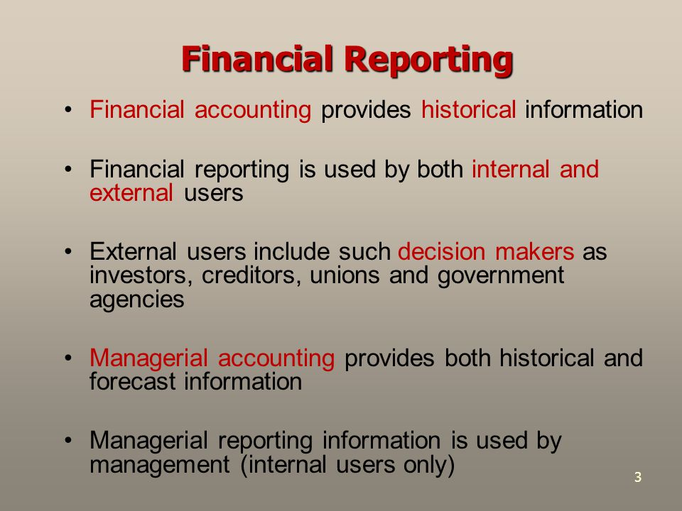 4 Financial Statements and Other Means of Financial Reporting Major financial statements include: 1.Balance Sheet 2.Income Statement 3.Statement of Cash Flows 4.Statement of Shareholders' (Owners') Equity +Note Disclosures