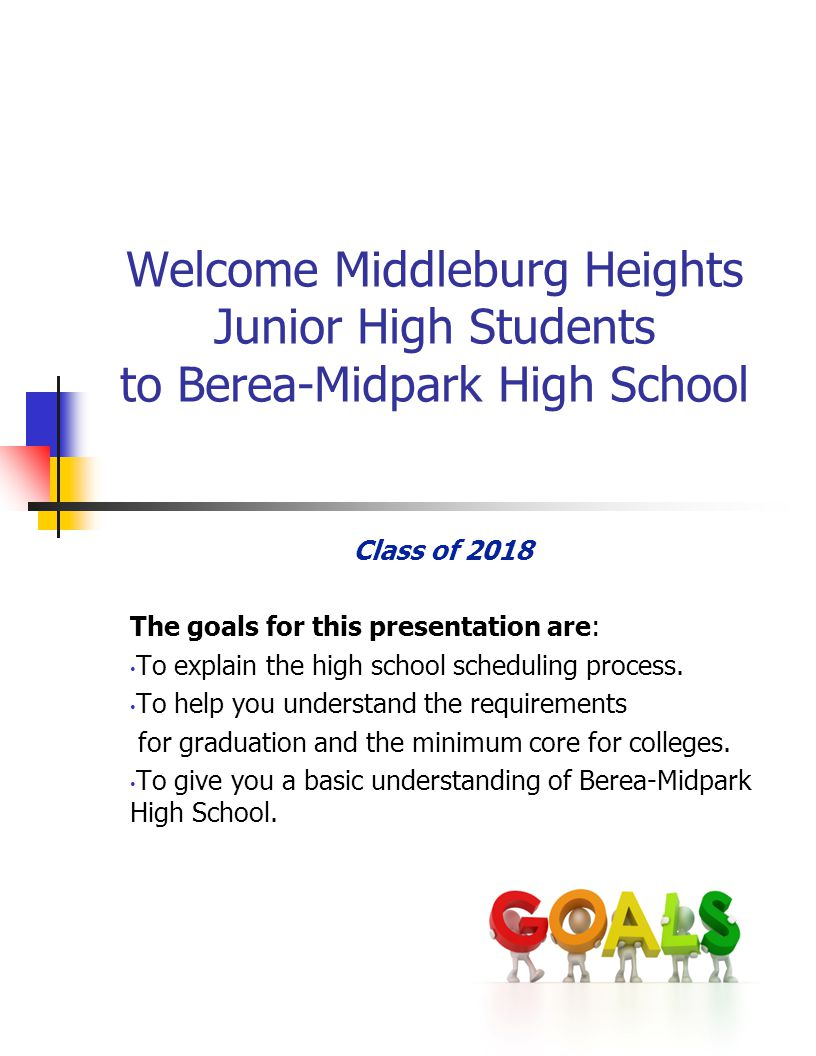 Berea-Midpark High School Guidance Counselors Last Names Counselors A-E Mr.