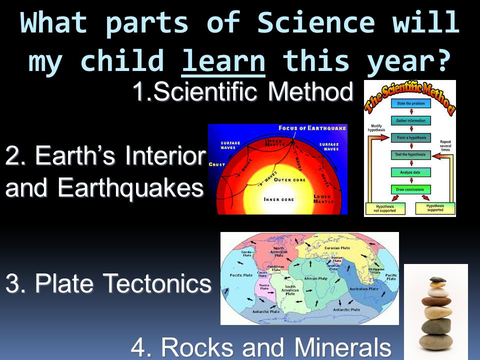 What parts of Science will my child learn this year.
