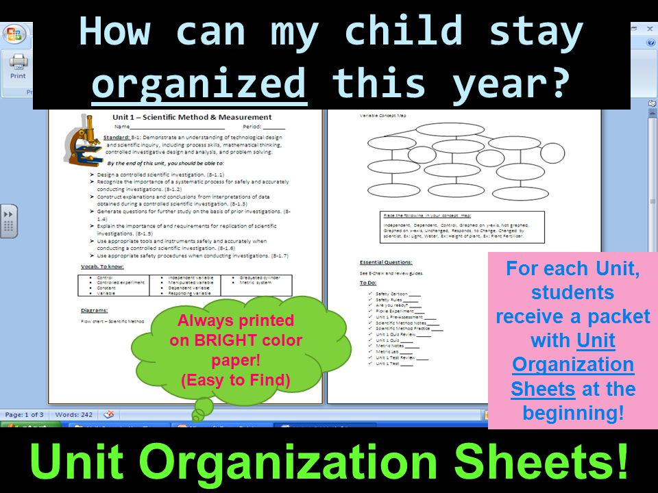 How can my child stay organized this year.