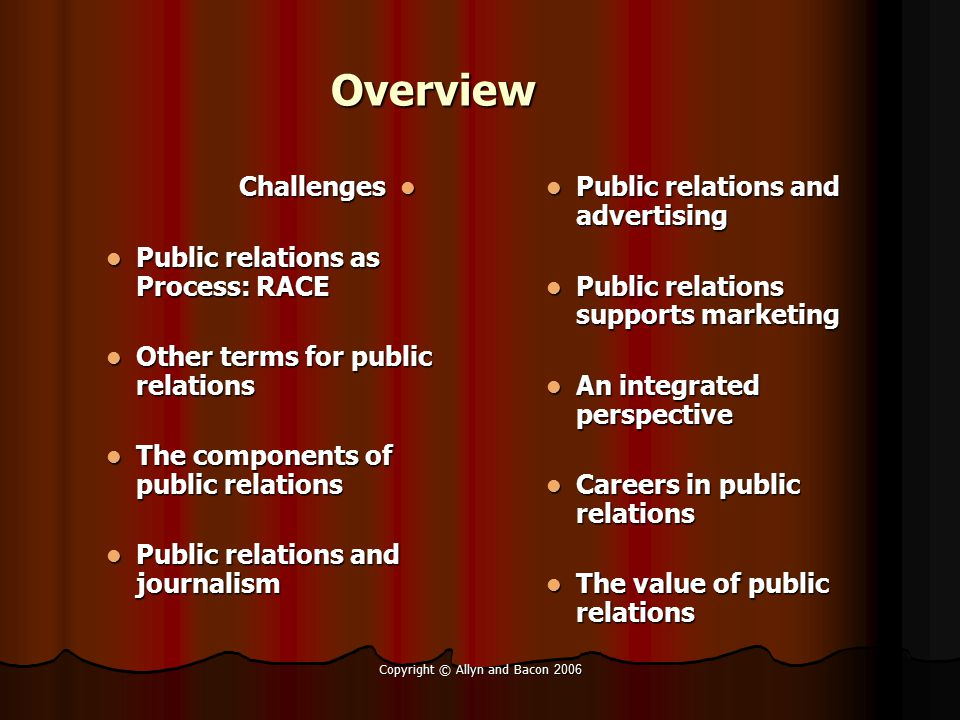 Copyright © Allyn and Bacon 2006 Ways to view our publics …… Actualizers Actualizers Fulfilleds Fulfilleds Believers Believers Achievers Achievers Segmenting by values and lifestyles Strivers Strivers Experiencer s Experiencer s Makers Makers Strugglers Strugglers
