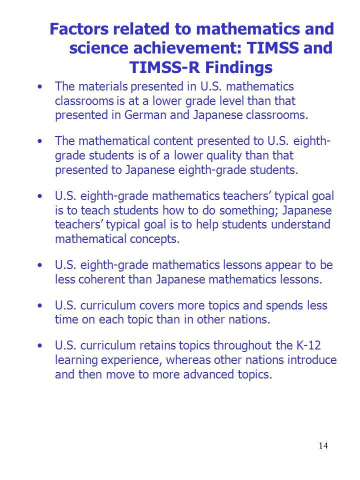 14 The materials presented in U.S.