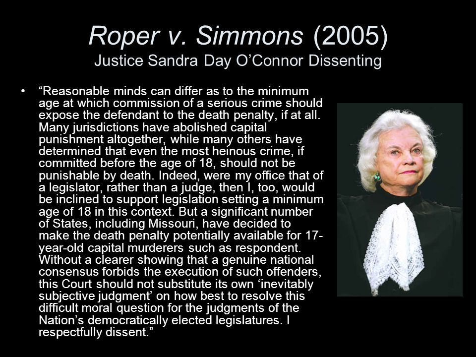 """""""Reasonable minds can differ as to the minimum age at which commission of a serious crime should expose the defendant to the death penalty, if at all."""