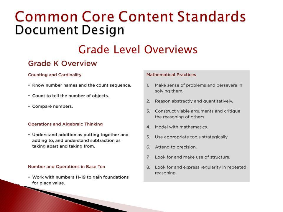 Grade Level Overviews