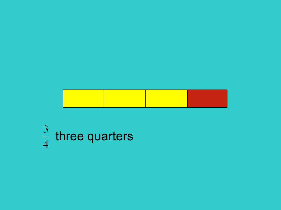 three quarters