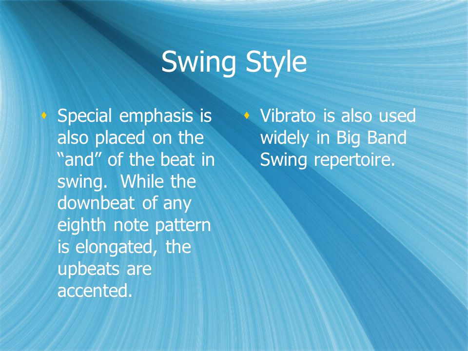 Question #4  In swing music, what part of the beat is emphasized or accented.