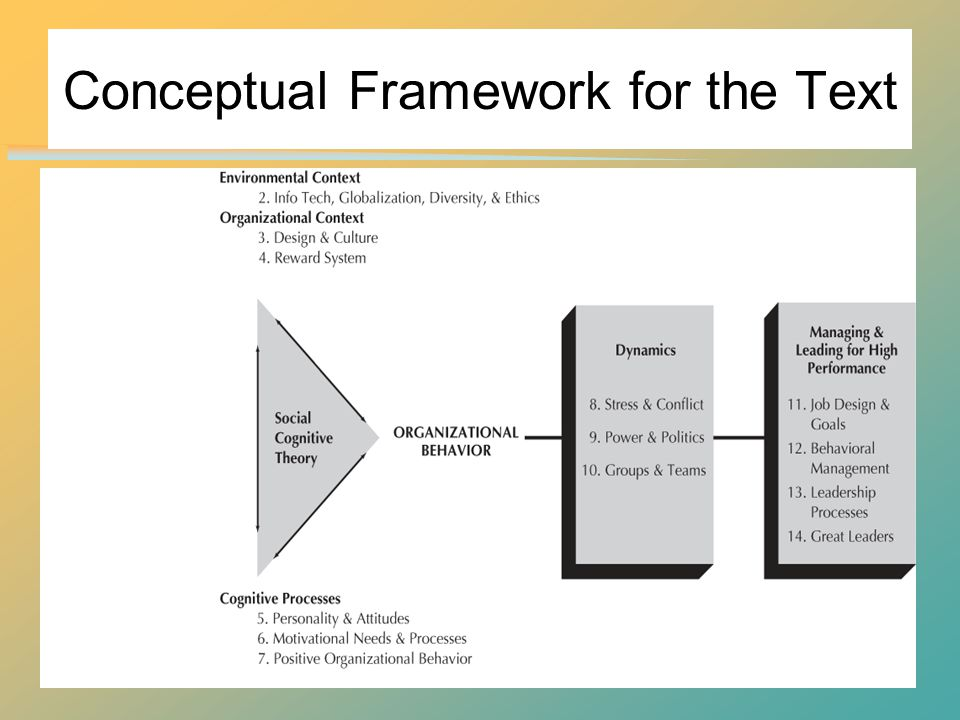 Conceptual Framework for the Text