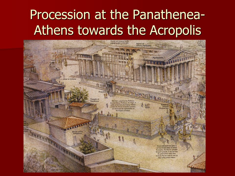 Procession at the Panathenea- Athens towards the Acropolis