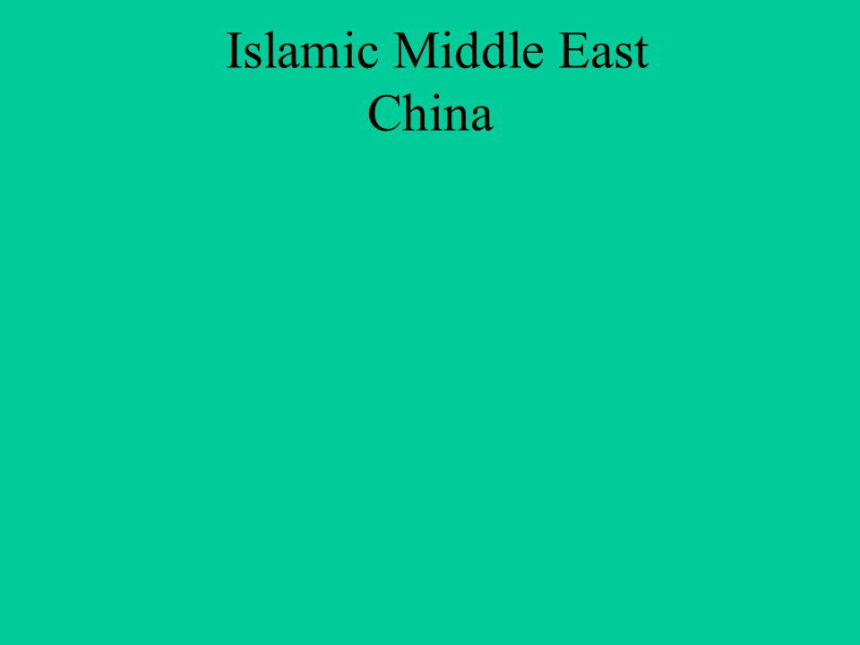 Islamic Middle East China