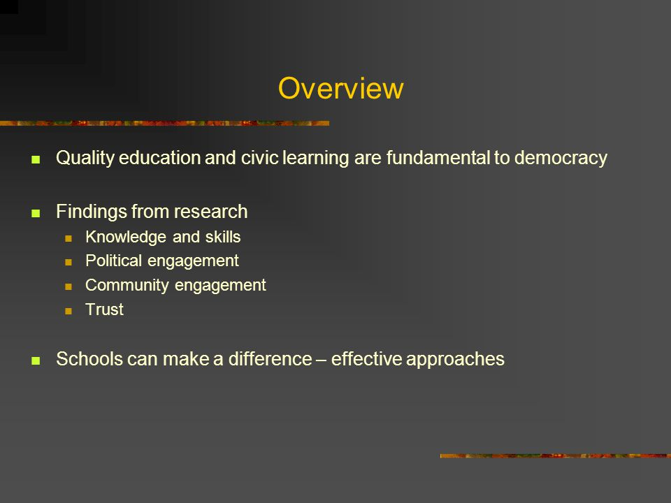 Strengthening Democracy in the Americas through Civic Education.