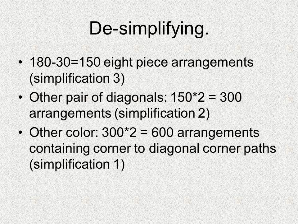 De-simplifying.