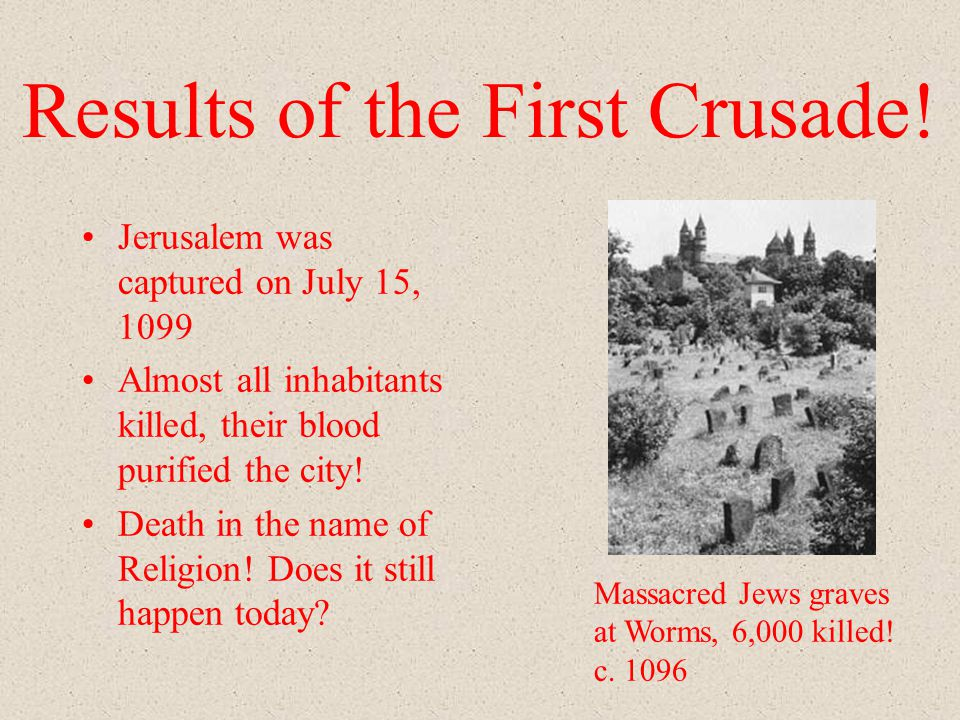 Results of the First Crusade.
