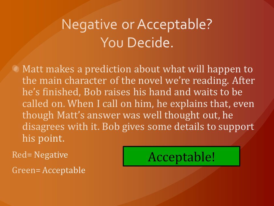 Acceptable!