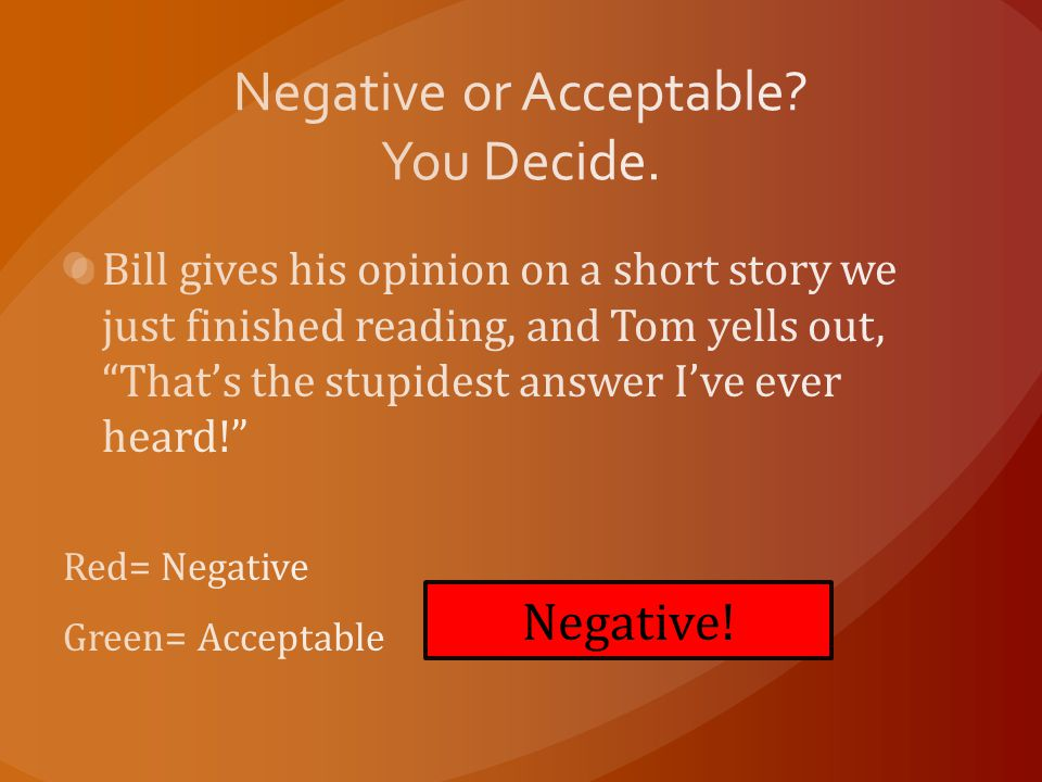 Negative!