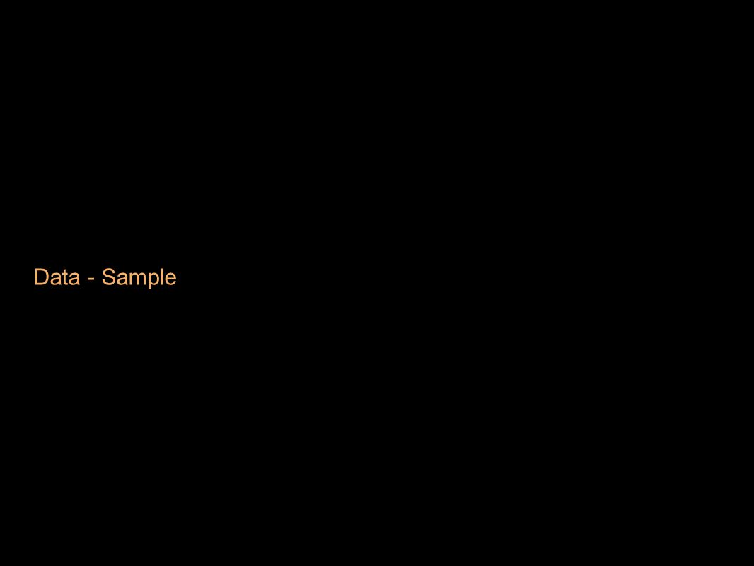 Data - Sample