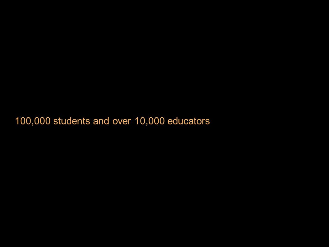 100,000 students and over 10,000 educators