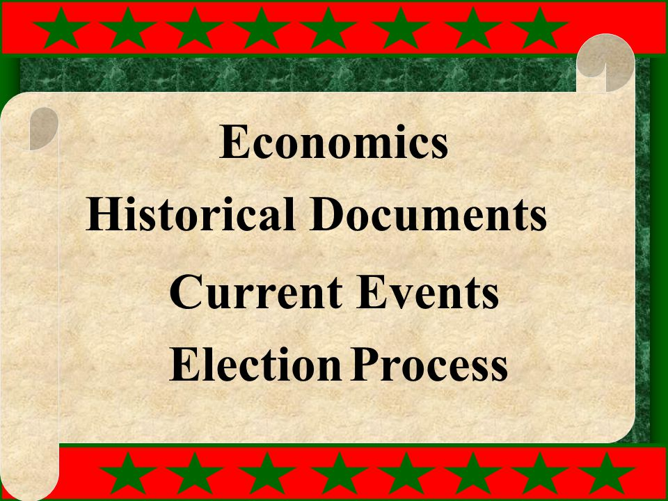 Economics Historical Documents Current Events Election Process
