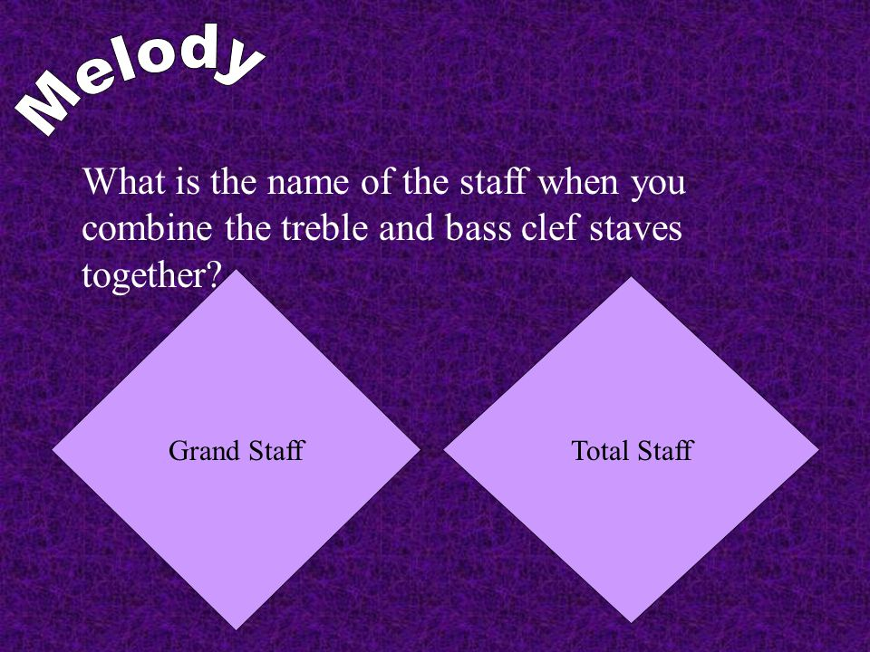 What is the name of the staff when you combine the treble and bass clef staves together.