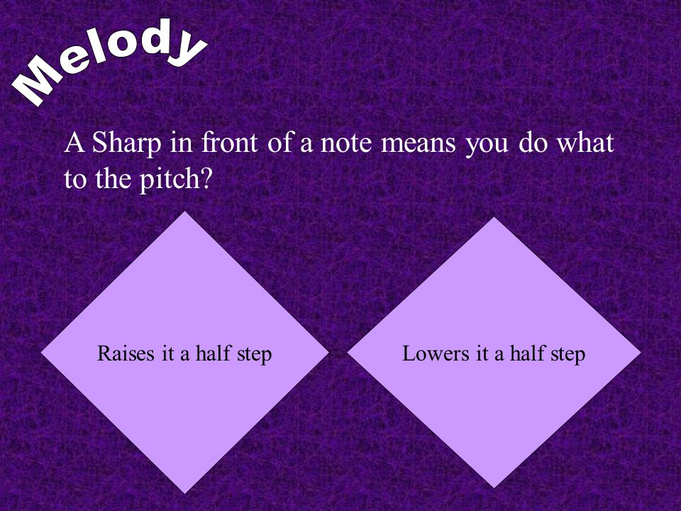 A Sharp in front of a note means you do what to the pitch.